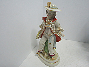Vintage Male Meissen Style Entertainer Figurine