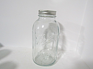 Vintage Ball Mason Two Quart Canning Jars