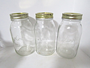 Vintage Kerr Self Seal Mason Canning Jars Set Of Three