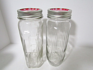 Vintage Oval Canning Jars Set Of Two
