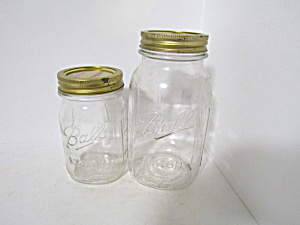 Vintage Ball Mason Canning Jars Set Of Two