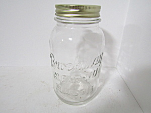 Vintage Brockway Clear-vu Mason Quart Canning Jar