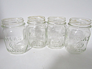 Vintage Atlas Mason Pint Canning Jars Set