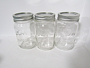 Vintage Kerr Mason Pint Self-sealing Canning Jars