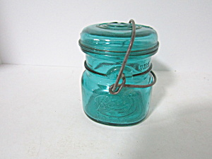 Vintage Ball Aqua Ideal Bail Half Pint Fruit Jar