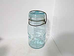 Vintage Atlas E-z Seal Aqual Wire Bail Quart Fruit Jar