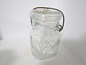 Vintage Ball Ideal Squar Bail Pint Fruit Jar