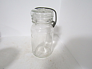 Vintage Hazel Atlas Round Bail Half-pint Fruit Jar
