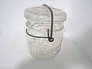 Vintage Atlas Wholefruit Jar Bail Pint Fruit Jar