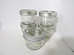Vintage Ball Fruit Wide Mouth One Cup Jelly Jars