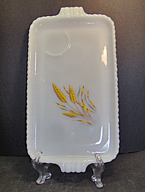 Vintage Fire King Wheat Snack Plates