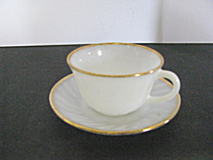 Vintage Fire King Cup & Saucer Set