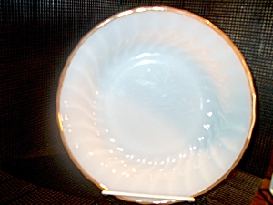 Vintage Fire King Golden Shell Saucer