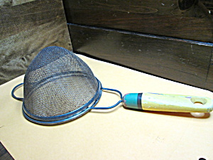 Vintage Wood Handled Strainer