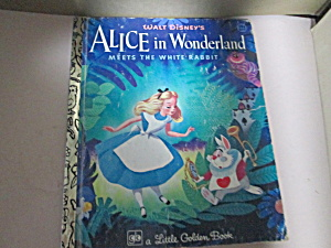 Golden Book Alice In Wonderland Meets The White Rabbit