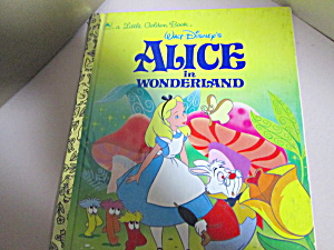 Golden Book Disney's Alice In Wonderland