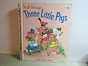 Little Golden Book Disney's The Three Little Pigs