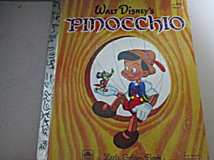 Vintage Little Golden Book Pinocchio Book