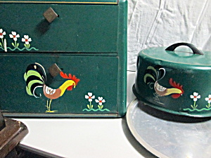 Ransburg Rooster Breadbox/pie Saver And Cake Saver