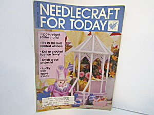 Vintage Magazine Needlecraft For Today March/april 1987