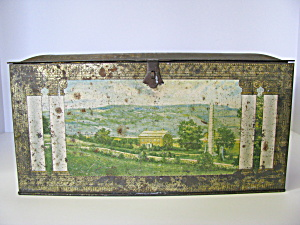 Vintage Colonial Metal Biscuit/bread Rustic Box