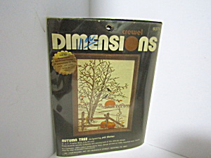 Vintage Dimesions Crewel Kit Autumn Tree