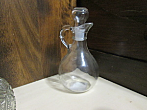 Large Anchor Hocking Clear Vinegar/oil Cruet