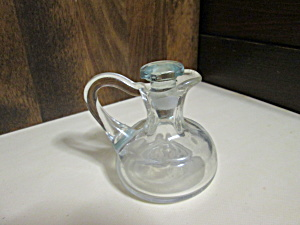 Vintage Mini Smooth Glass Oil/vinegar Cruet
