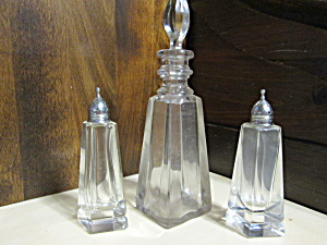 Vintage Bottle & Shaker Set