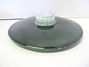 Vintage Hull Green Drip Casserole Cover