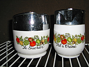 Spice Of Life Sugar Bowl & Creamer Gemgo