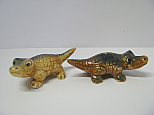 Vintage Alligator Salt & Pepper Shaker