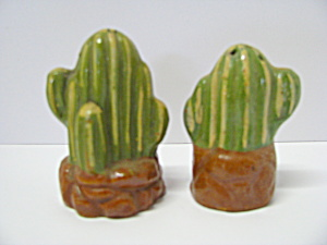 Vintage Mexican Clay Cactus Salt & Pepper Shaker
