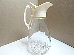 Vintage Glass Syrup Pour Bottle