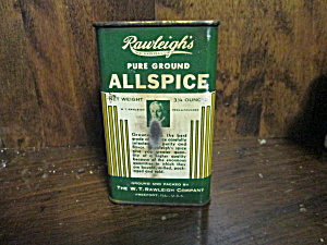 Vintage Rawleigh's Pure Ground Allspice Tin