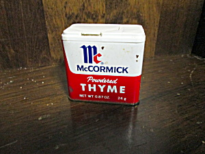 Vintage Mccormick Powdered Thyme Tin