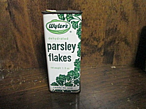 Vintage Wyler's Parsley Flakes Tin