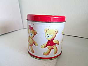 Small Vintage Collectable Bear Tin