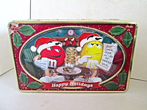 M&m Happy Holiday Cookie Tin