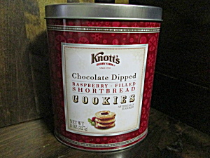 Knott's Raspberry Strawberry Shortbread Cookie Tin