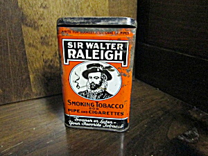 Vintage Sir Walter Raleigh Tobacco Tin