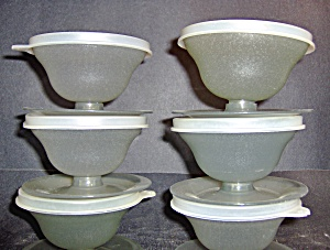 Vintage Tupperware Sherbet Cups With Lids