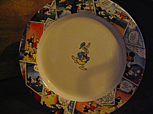 Comic Strip Framed Disney China Plate Donald Duck