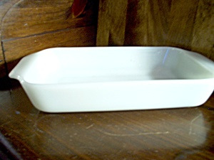 Vintage Fire King Milk White Loaf Pan