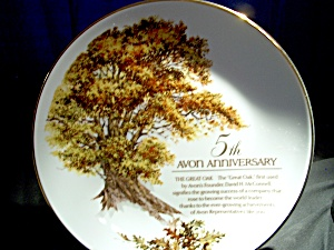 Avon The Great Oak Plate 5th Anniversary