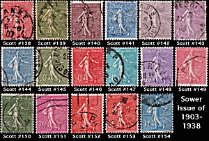 Sower Issue Of 1903-1938 Sc#138-154