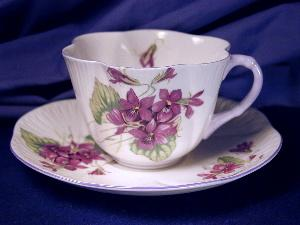 Shelley Dainty Violets Cup & Saucer