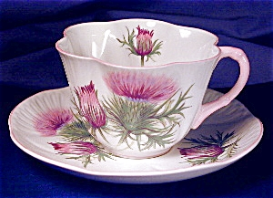 Shelley Dainty Thistle Cup & Saucer
