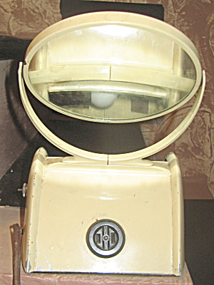 Shaving Mirror With Light Vintage Art Deco