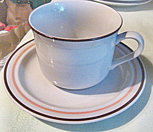 Countryside Stoneware Vintage Cup And Saucer